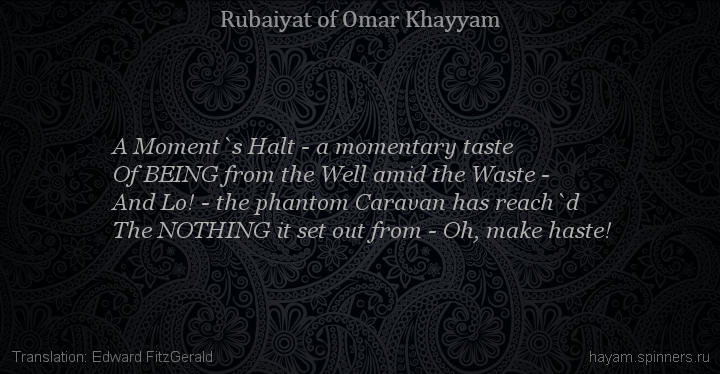 A Moment`s Halt - a momentary taste