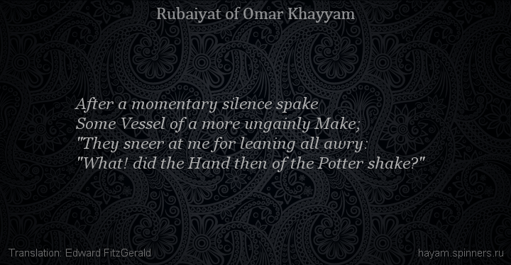 After a momentary silence spake