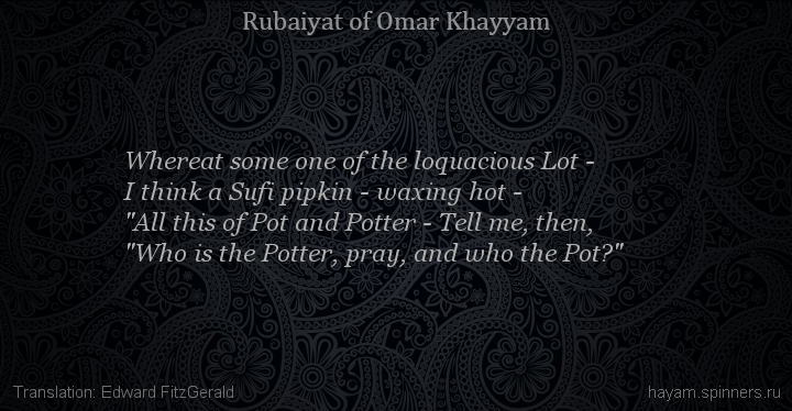 Whereat some one of the loquacious Lot -